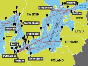 Baltic sea ferry routes