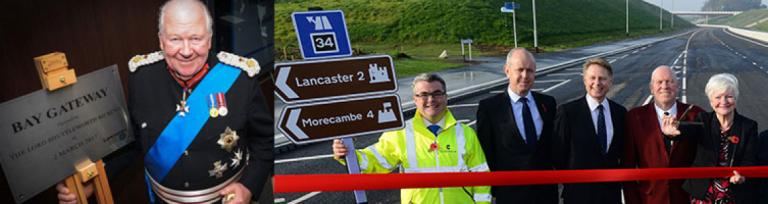 Lord Lieutenant Lancashire Bay Gateway Opening Plaque