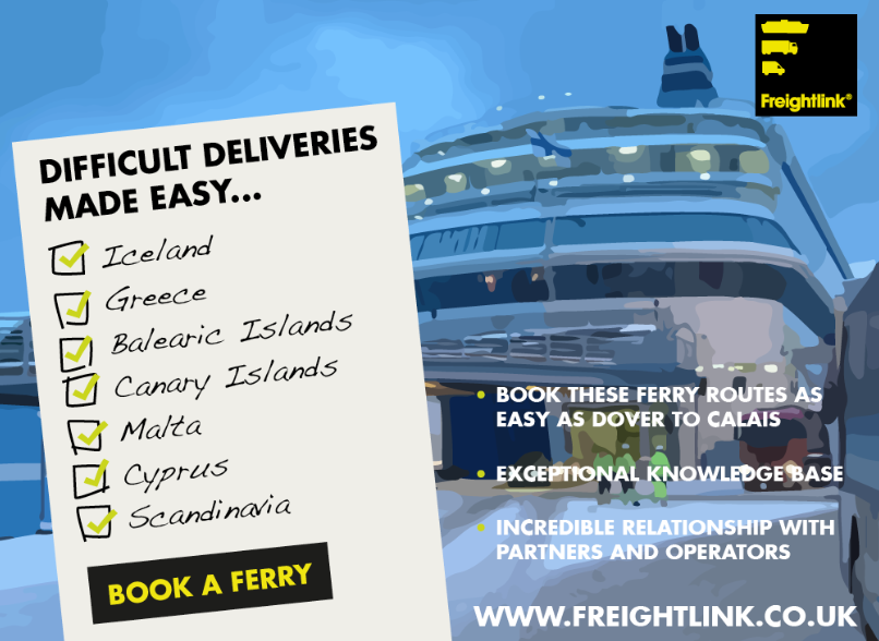 difficult deliveries made easy - freight ferries to iceland, greece, balearic islands, canary islands, malta, cyprus, scandinavia